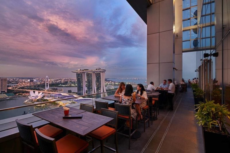 Level33 rooftop bar view in singapore