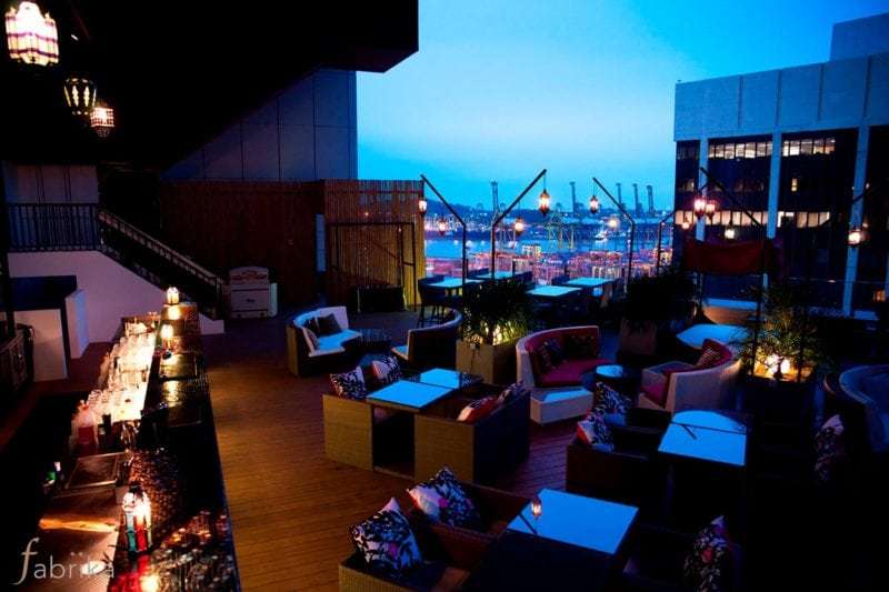 Fabrika rooftop bar view in singapore