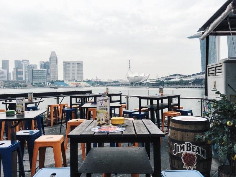 Kinki rooftop bar to enjoy a drink and hip hop music