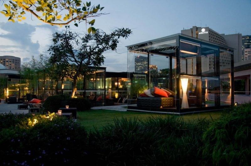 Orgo rooftop bar sits in a quiet spot on top of Esplanade