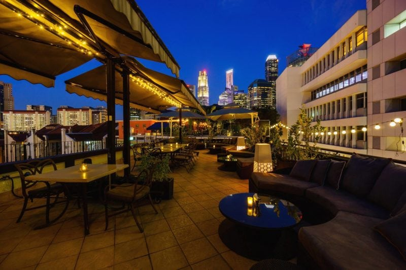 Breeze rooftop bar view in singapore