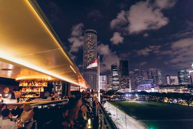 Smoke and Mirrors rooftop bar at National Gallery in singapore