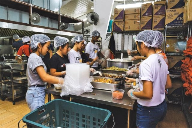 the Soup kitchen at Willing Hearts feed the vulnerable members of our community