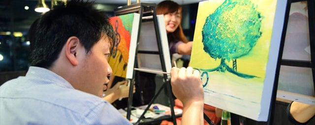 art jamming session at museo