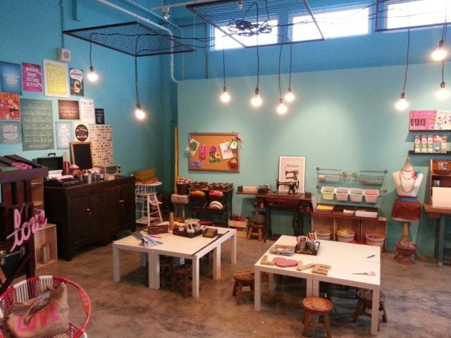 craft corner for kids and adults at eatplaylove cafe