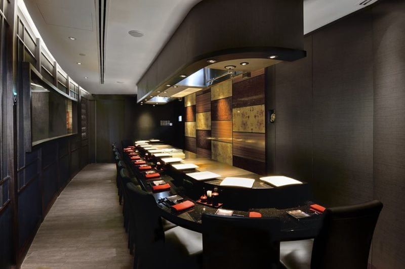 Stylish Teppanyaki restaurant with counter in Singapore