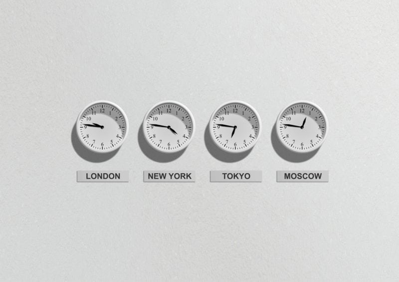Know the time difference between your timezone and that of your destination.