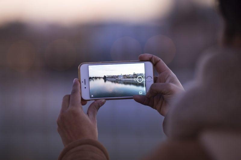 Phone photography horizontal form