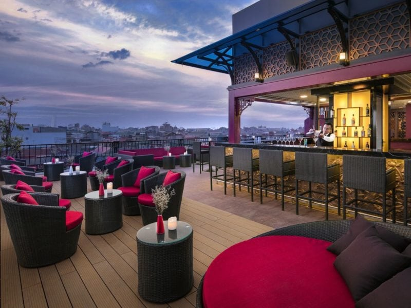 Get high hotels with the best rooftop bars in asia for Design hotel vietnam