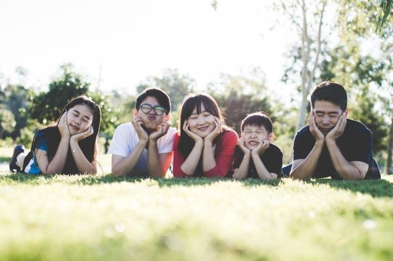 Happy Family celebrating Mother's Day