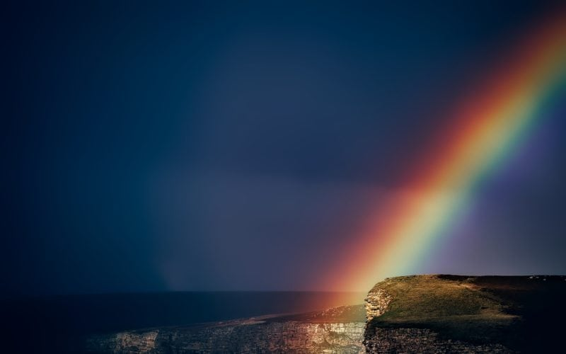 Rainbow along the Coast of Wales