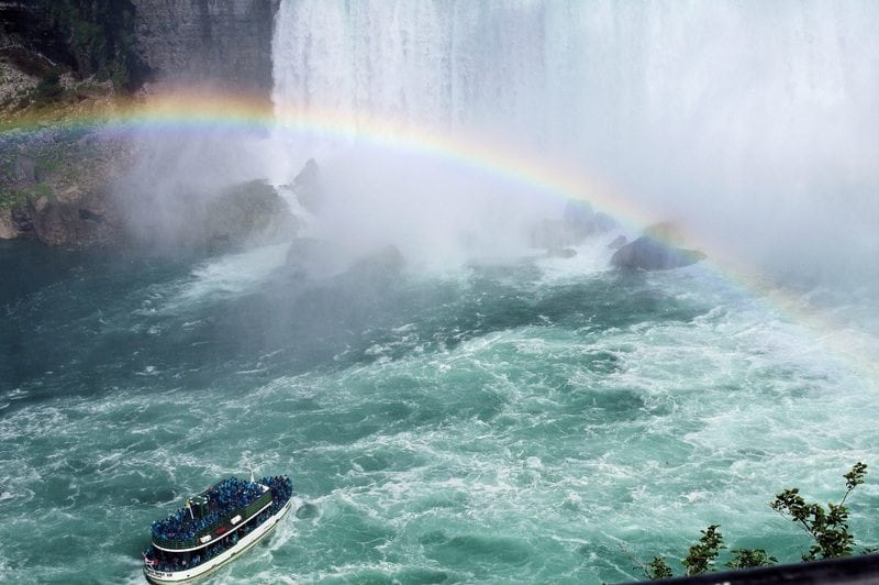 Rainbow at the Niagara Falls
