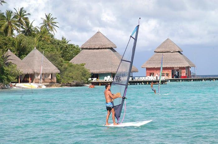 Adaaran Club Rannalhi Maldives Resorts water sailing