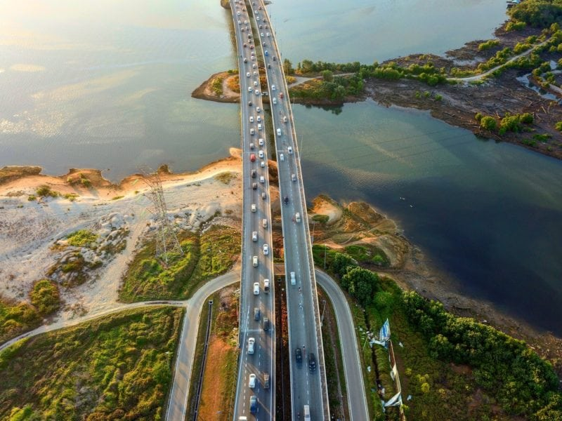 Crossing the causeway between singapore and johor bahru