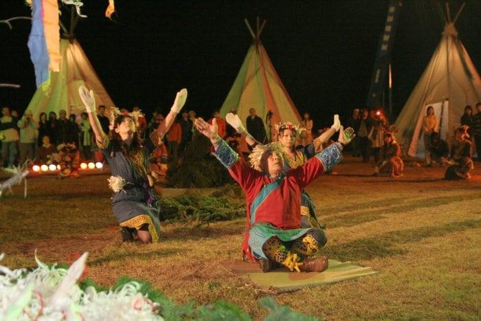 Orochon Fire Festival in Hokkaido in July
