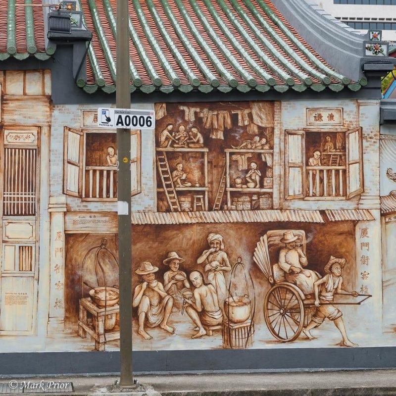 Street art at Amoy Street Singapore