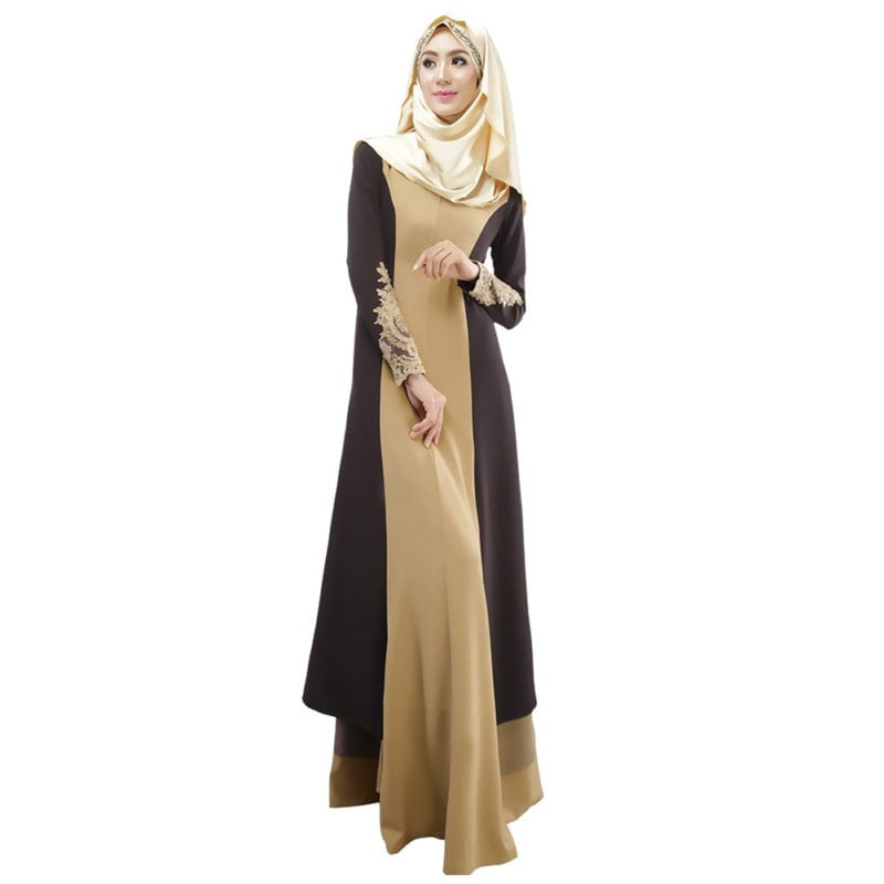 Two tone muslimah dress