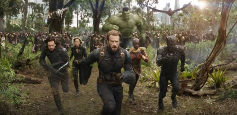 All Marvel superheroes on teh new Infinity War movie