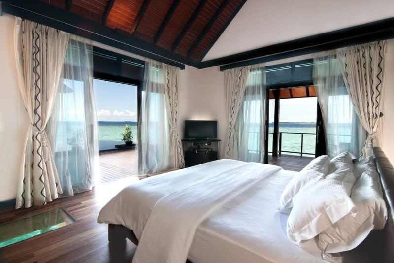 The Sun Siyam Iru Fushi Luxury Resort Maldives water villa view