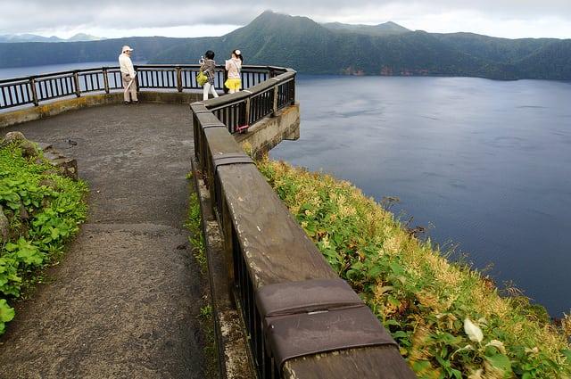 Lake Mashu view in Hokkaido, Japan