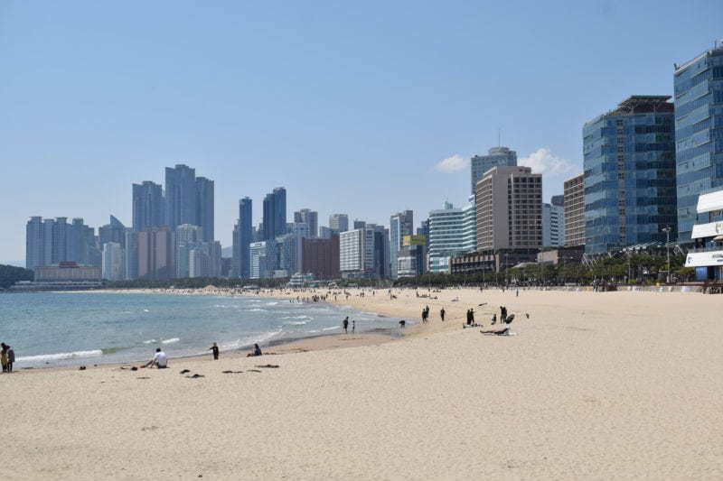 spending a day at Haeundae Beach