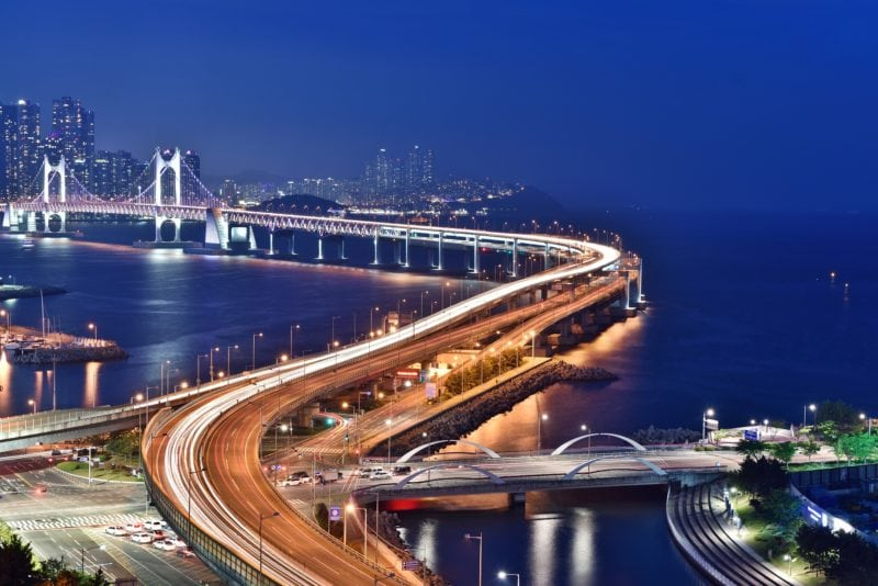 view of bridge to Busan, south korea