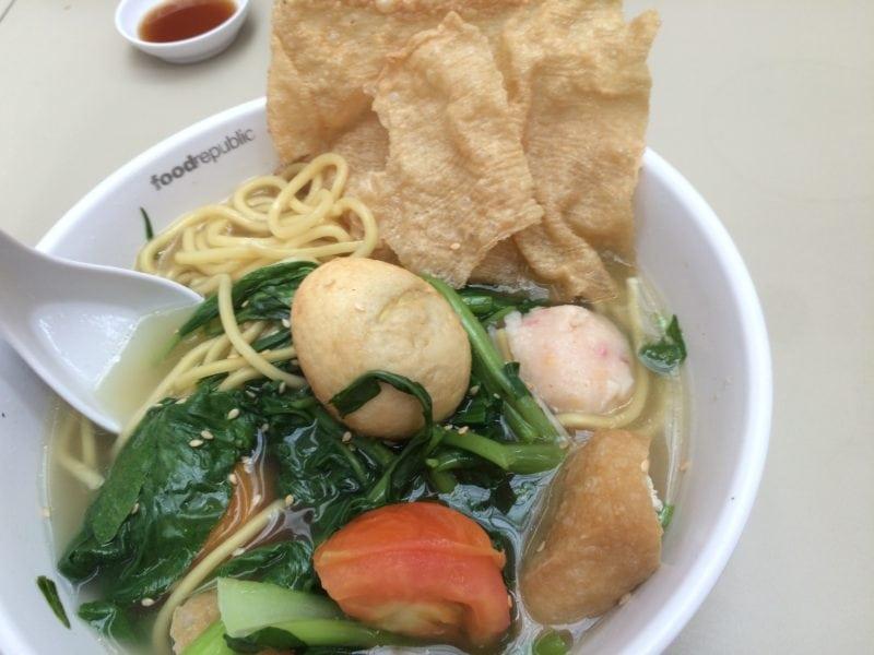 Noodle soup in Food Republic bowl