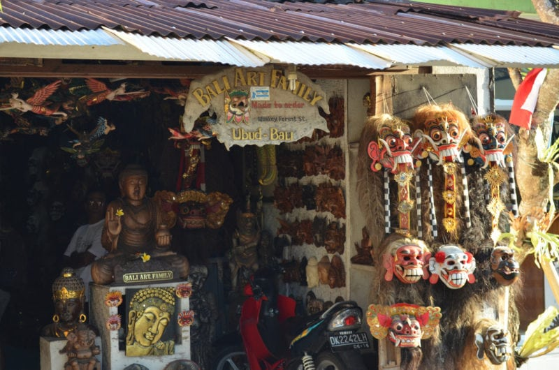 Traditional craft shop in Bali