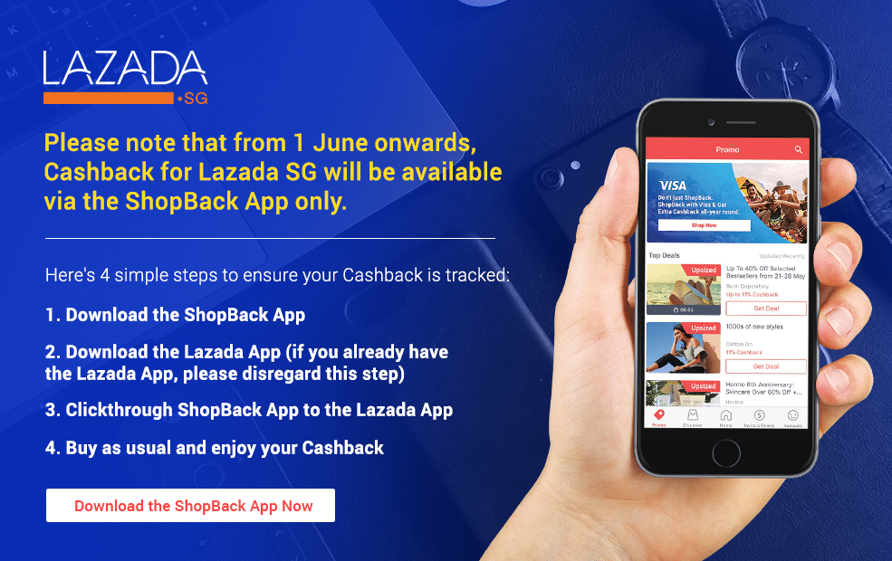 Lazada now on app only