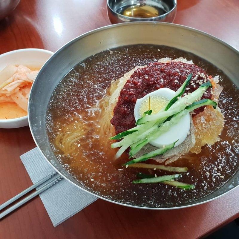 Milmyeon cold noodles wheat noodles Busan