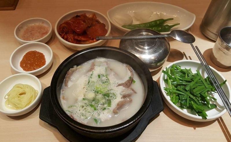 Pork soup and rice Busan