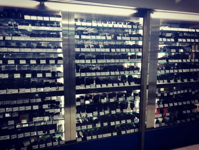 film cameras window