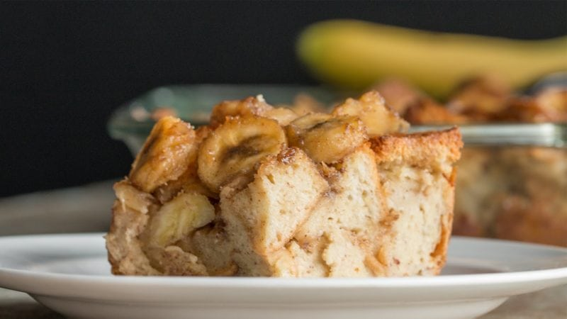 Banana oat baked french toast