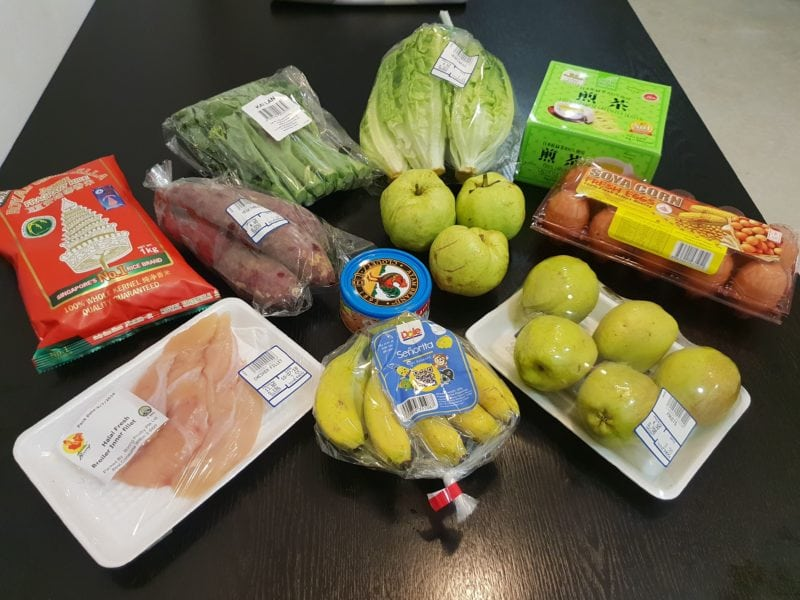 a week's worth of groceries from UStar Supermarket