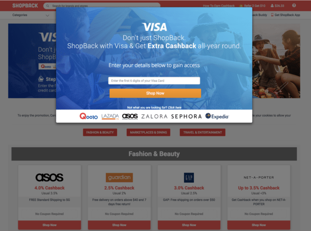 shopback visa promotion