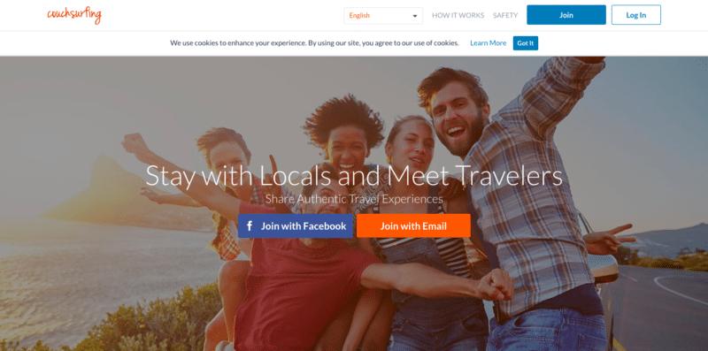 Couchsurfing platform
