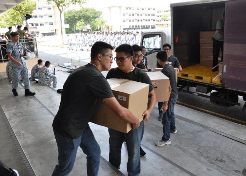 Volunteers at NDP Singapore