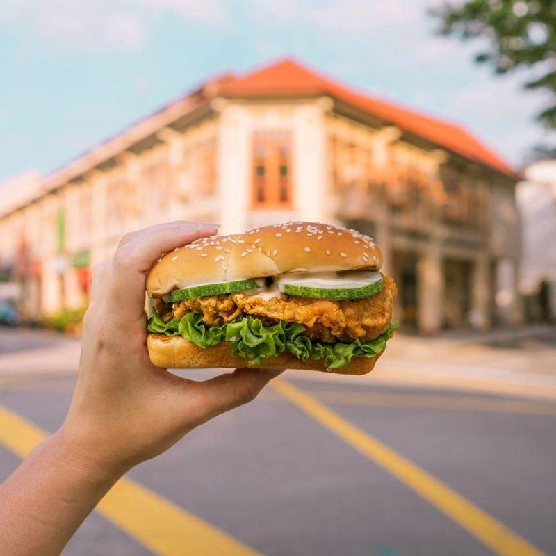 ha ha cheong gai burger from mcdonald's SG