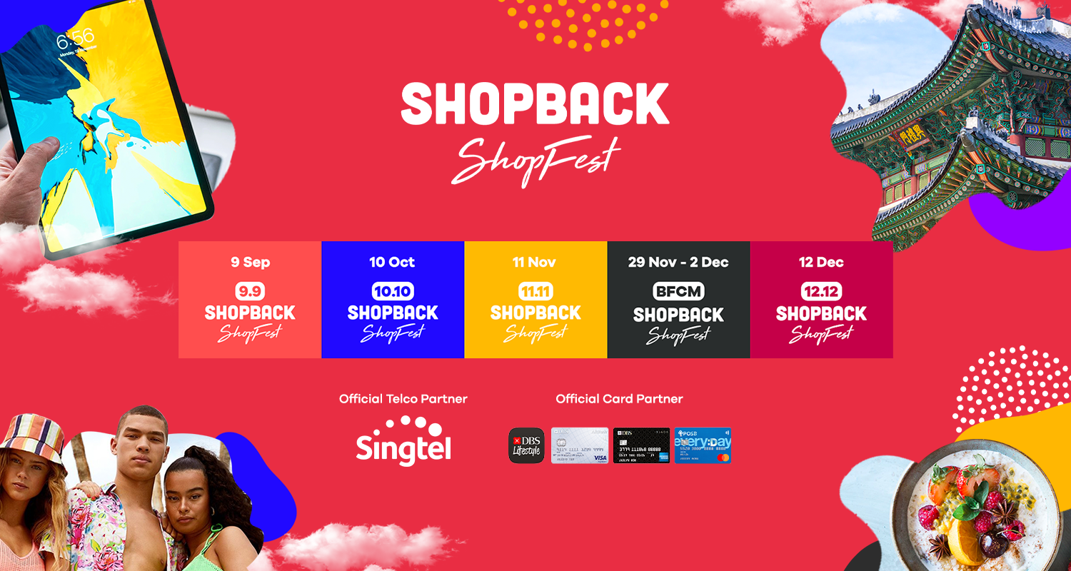red infographic for shopback shopfest