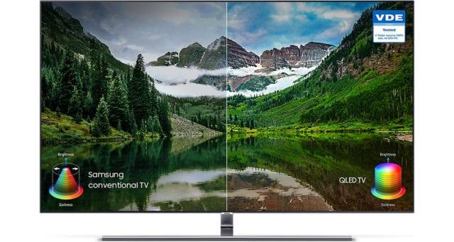 Samsung QLED vs. LCD TV Comparison