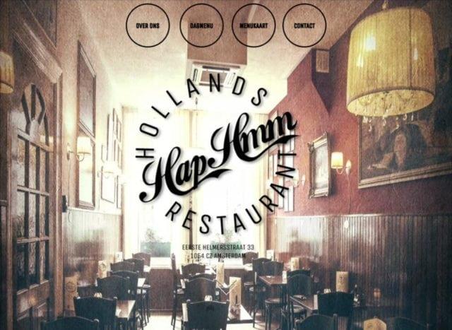 Europe Amsterdam Hap Hmm Restaurant