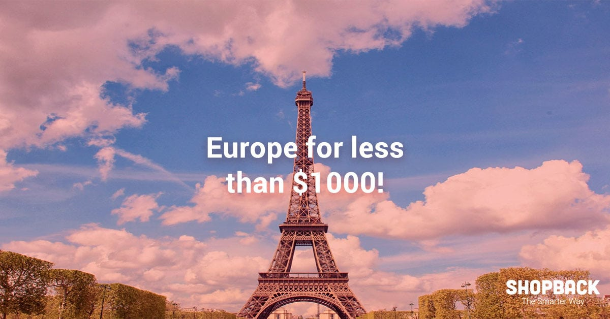 Europe on a Budget: Travel to Iconic European Cities For Under S$1000