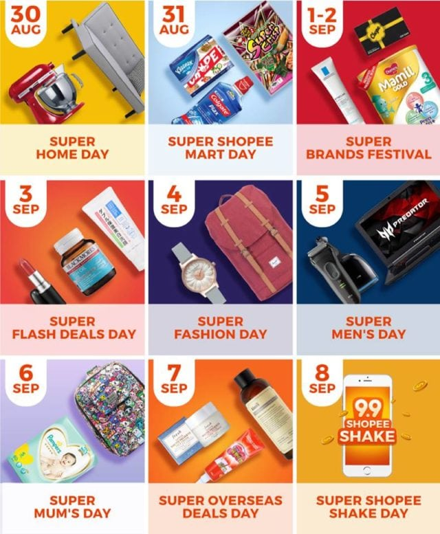 ShopFest 9.9 Shopee Calendar