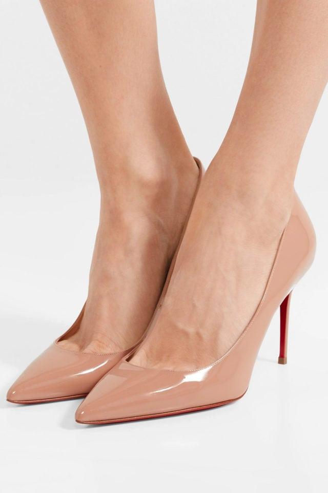 nude pump heeled shoe woman louboutin