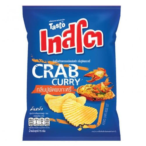 Tasto potato chips crab flavor