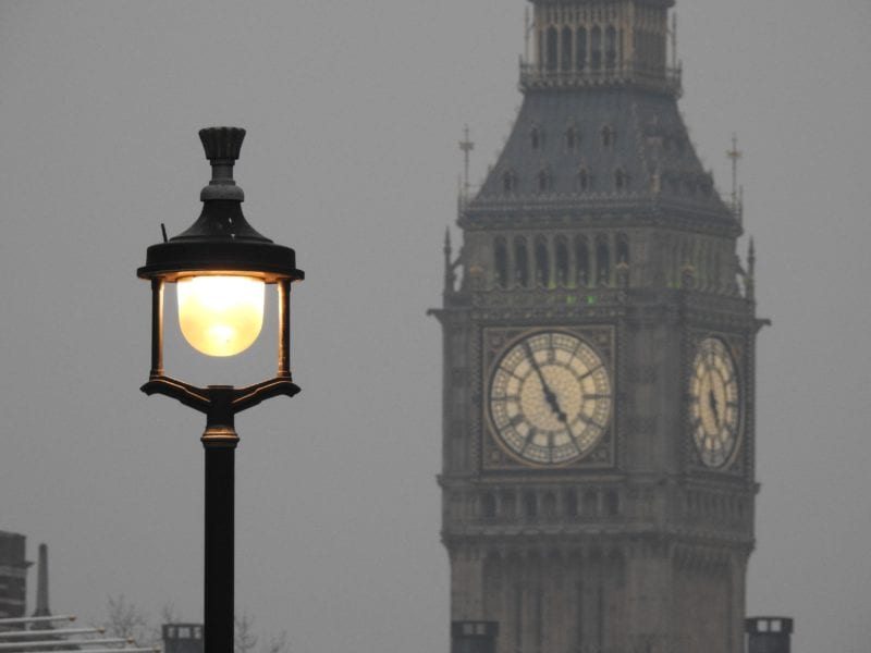 Street lamp with Big Ben in background