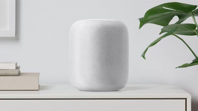 Apple HomePod on Shelf