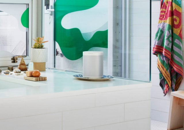 Sonos One Smart Speaker in Kitchen