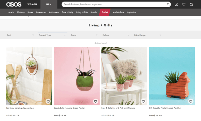 asos home and living