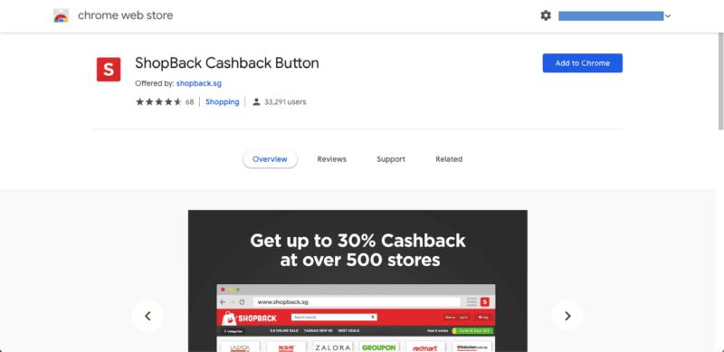 ShopBack Cashback Button Chrome 1